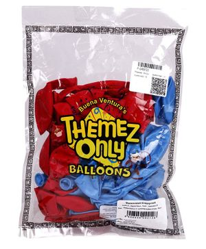 Themez Only Batman Balloons Pack of 50 - Blue Red
