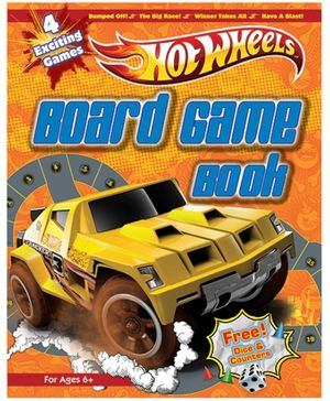 Hotwheels - Board Game Book With Free Dice And Counters