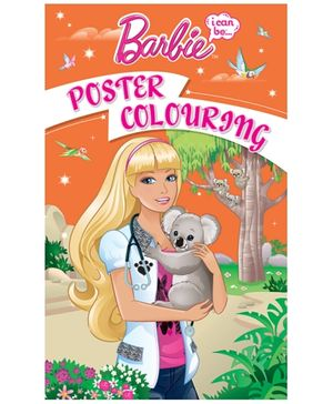 Barbie - I Can Be Poster Coloring Book