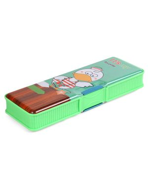 Magnetic Pencil Box Duck Print - Green