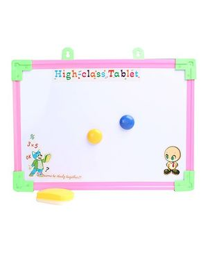 Fab N Funky - Tablet Printed Writing Board With Yellow Duster Small