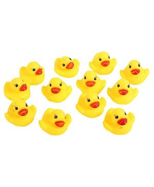 Fab N Funky - Bath Toy Yellow Duck Shaped Set 12 Pieces
