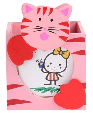 Fab N Funky - Cat Design Pink Pen Stand