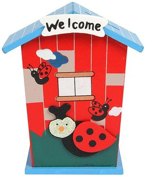 Fab N Funky - Wooden House Shaped Coin Bank