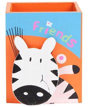 Fab N Funky - Zebra Wooden Pen Stand