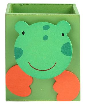Fab N Funky - Frog Wooden Pen Stand