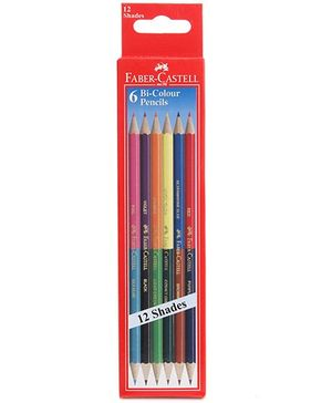Faber Castell 6 Bi Colour Pencils