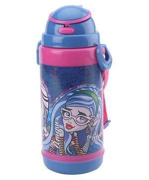 Monster High Pop UP Straw Water Bottle - 800 ml