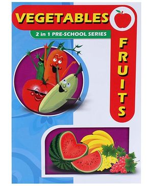 Apple Books 2 In 1 Pre School Series Vegetables And Fruits Book - English