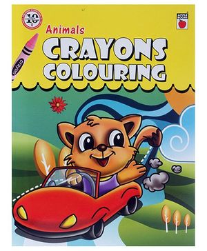 Apple Books Animals Crayon Coloring - English
