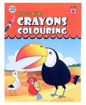 Apple Books - Crayon Coloring Exotic Birds