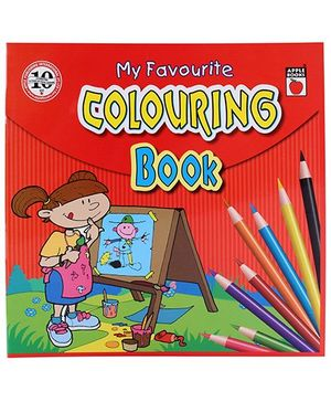 Apple Books - My Favorite Coloring Book 4T Red