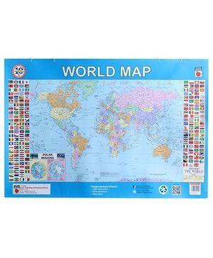 Apple Books World Map Polypropylene Chart - English