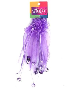 Stol'n - Two Piece Set Purple Rubber Band With Small Beads