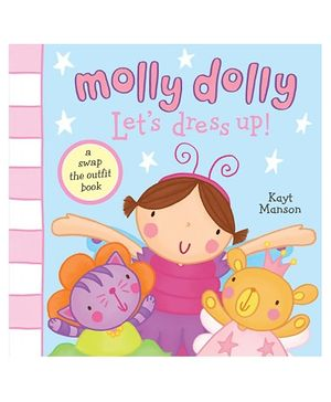 Simon And Schuster - Molly Dolly Lets Dress Up Book