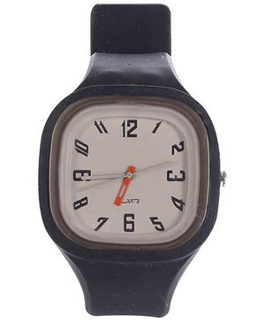 Fab N Funky Kids Analogue Watch Black - Square Dial