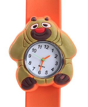 Fab N Funky - Kids Watch Smiling Panda Shape Orange
