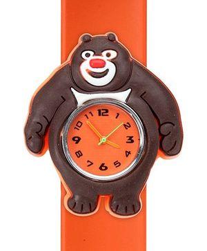 Fab N Funky - Kids Watch Smiling Bear Shape Orange