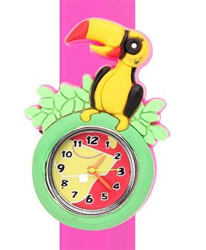 Fab N Funky - Bird Design Fashion Wrist Watch Pink