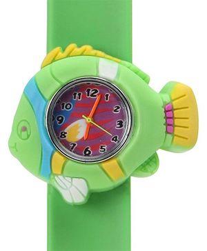 Fab N Funky - Multicoloured Fish Shape Kids Watch