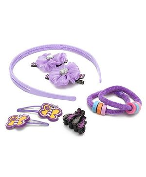 HK Merchandise - Purple Hair Accessories Set of 5