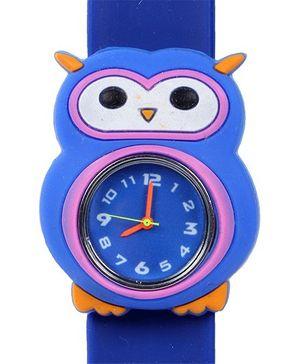 Fab N Funky - Kids Watch Owl Shape Bright Navy Blue