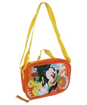 Disney - Mickey Mouse Print Lunch Bag Orange