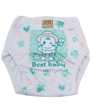 Babyhug Velcro Cloth Diaper Green - Small