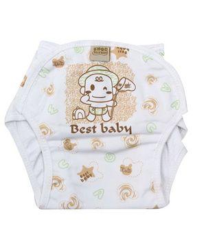 Babyhug Velcro Cloth Diaper Brown - Extra Large