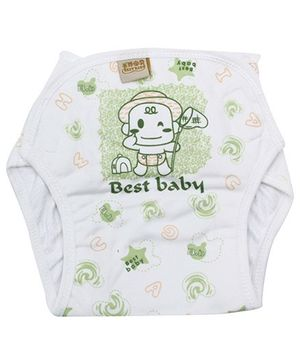 Babyhug Velcro Cloth Diaper Light Green - Large
