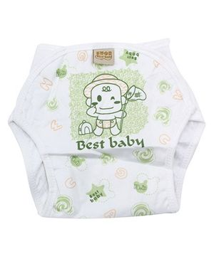 Babyhug Velcro Cloth Diaper Light Green - Medium