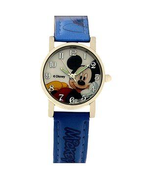 Disney Mickey Analogue Kids Wrist Watch - Light Blue