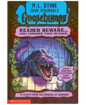 Scholastic Goosebumps Escape From The Carnival Of Horrors Book 1 - English