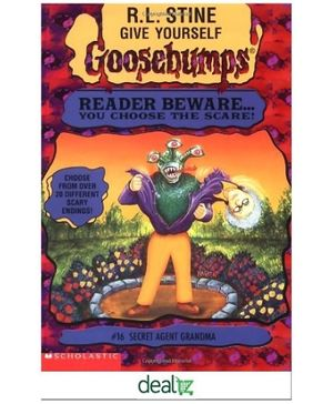 Scholastic Goosebumps Secret Agent Grandma Book 16 - English