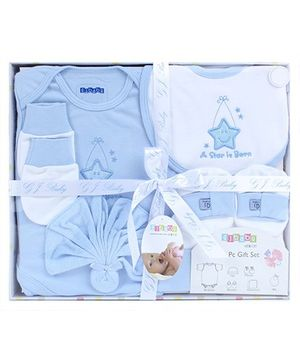 Baby Dreamz Baby Gift Set Star Patch Blue - Set Of Six
