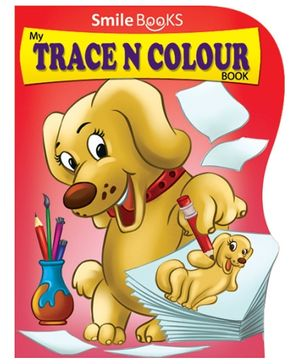 Smile Books My Trace N Colour Book - Red