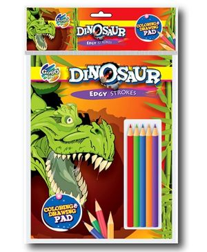 Chitra Gogo Kids Dinosaur Edgy Strokes - Coloring And Drawing Pad