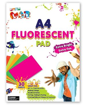 Chitra Pogo Mad A4 Fluorescent Pad - 30 Sheets