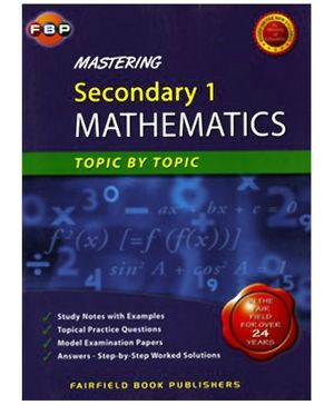 Fairfield Book Publisher Mastering Secondary 1 Mathematics