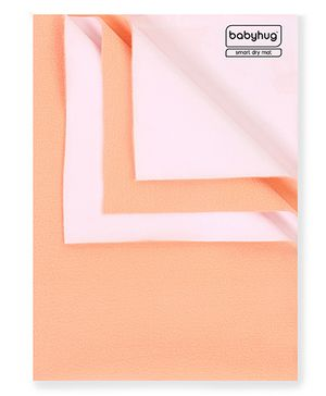 Babyhug Smart Dry Bed Protector Sheet Peach - Small