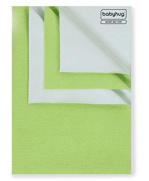 Babyhug Smart Dry Bed Protecting Sheet Green - Small