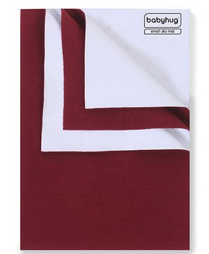 Babyhug Smart Dry Bed Protector Sheet Maroon - Small