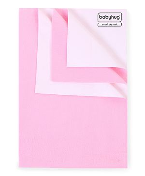 Babyhug Smart Dry Bed Protector Sheet Pink - Large