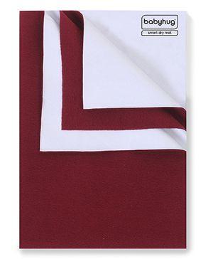 Babyhug Smart Dry Bed Protecting Sheet Maroon - Large