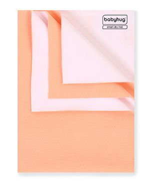 Babyhug Smart Dry Bed Protector Sheet Peach - Large
