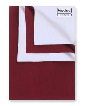 Babyhug Smart Dry Bed Protecting Sheet Maroon - Extra Large