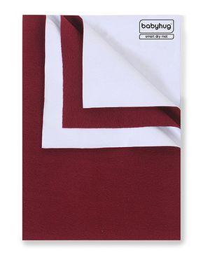 Babyhug Smart Dry Bed Protector Sheet Maroon - Medium