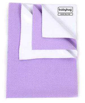 Babyhug Smart Dry Bed Protecting Sheet Lilac - Medium