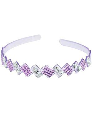Angel Glitter Purple Zigzag Shape Hairband