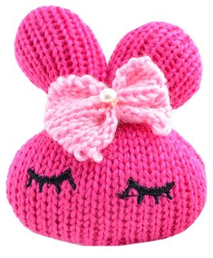 Angel Glitter Softy Bunny Fashionable Rubber Band - Pink